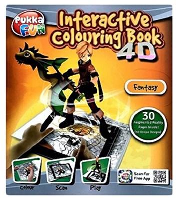 Pukka pad, 8425-FUN, Pukka fun, interaktivní 4D omalovánky, Fantasy