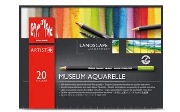 Museum Aquarelle Pencils Landscape, 20 ks, Caran d'Ache