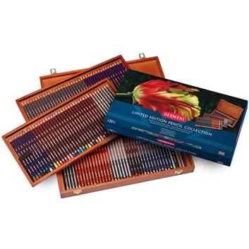 Derwent, 2302587, Derwent Limited Edition Pencil Collection, sada uměleckých pastelek s příslušenstvím v luxusní dřevěné kazetě, 120 ks