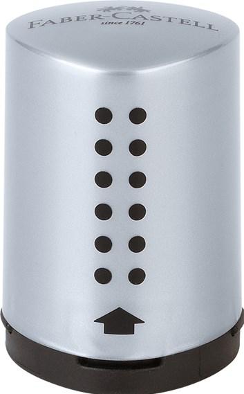 Faber-Castell, 183700, Grip 2001 Mini, ořezávátko, stříbrná