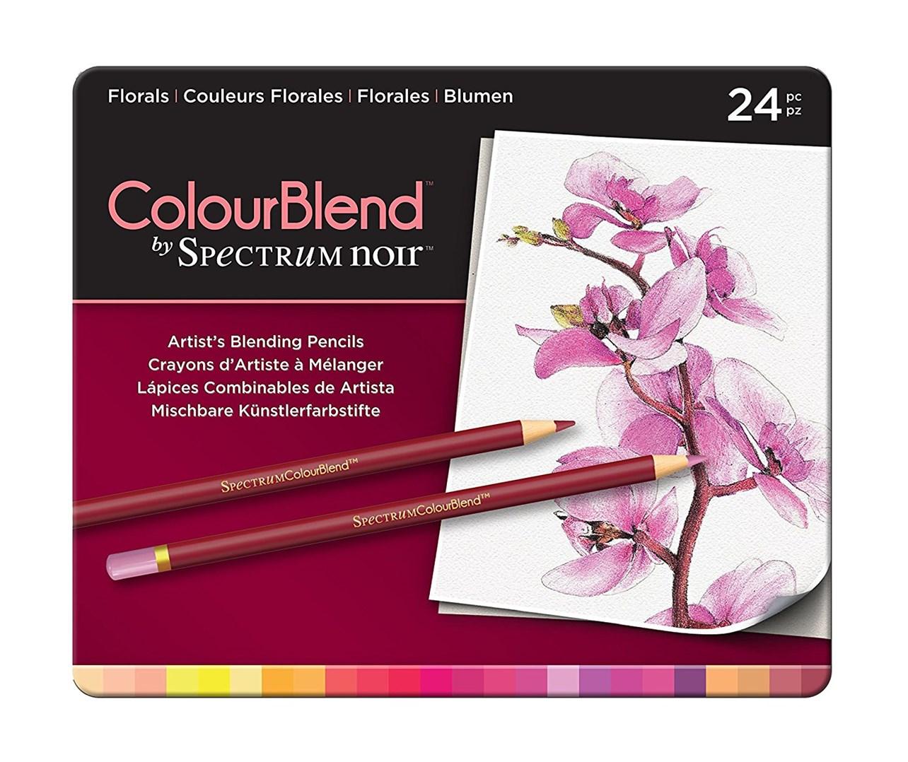 Spectrum Noir, SPECCB-FLO24, umělecké pastelky, sada 24 ks, Florals