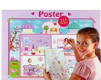 My style Princess, 054356, plakát se samolepkami