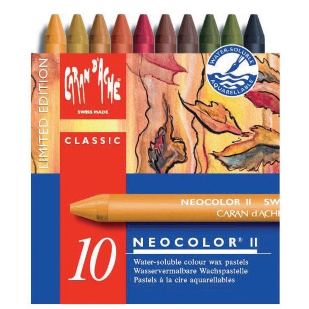 Caran d´Ache, 7500.913, Neocolor II., akvarelové pastely, limitovaná edice, autumn colours, 10 ks