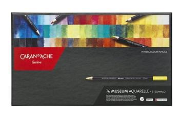Caran d'Ache, 3510.376, Museum Aquarelle Pencils, umělecké akvarelové pastelky, 76 + 2 ks