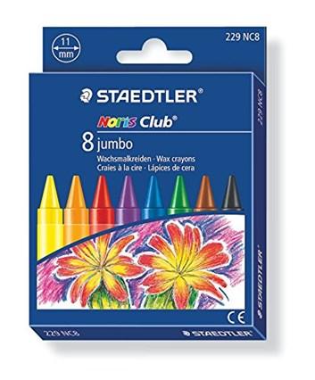 Staedtler, 229 NC8, Noris Club Jumbo, olejové pastely (voskovky), 8 ks
