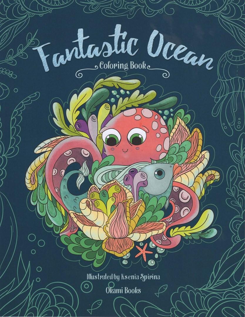 Fantastic Ocean, ponořte se v omalovánce do chladivých hlubin oceánu a plujte spolu s rybičkami na vlně pohody.
