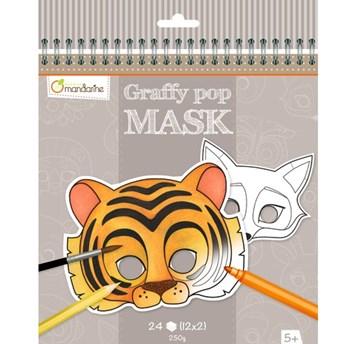 Karnevalové masky k vymalování pro děti, Avenue Mandarine