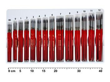 MFP, 6340124, sada kulatých štětců na akvarel, 144 ks, různé velikosti