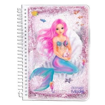 Fantasy model, zápisník s mořskou pannou, 1 ks, růžová