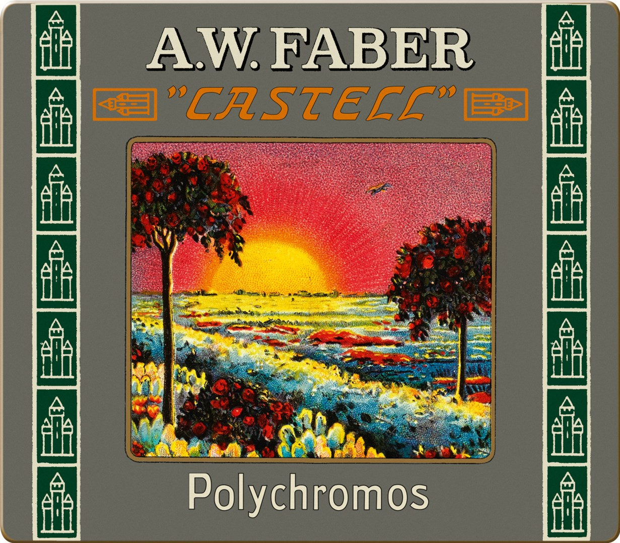 Faber-Castell, 211002, Polychromos, umělecké pastelky nejvyšší kvality, limitovaná edice, retro, 24 ks