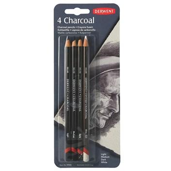 Derwent, 39000, Charcoal, uhel ve dřevě, 4 ks