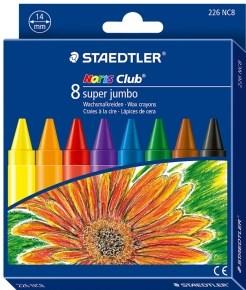 Staedtler, 226 NC8, Noris Club Super Jumbo, olejové pastely (voskovky), 8 ks