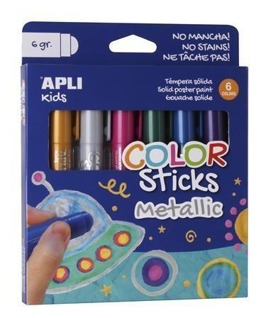 Metalické tyčinky pro oslnivý lesk vašich kreseb. Vyzkoušejte jiné temperové barvy.