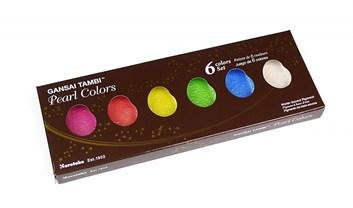 Kuretake, MC20PC/6V, Gansai Tambi Pearl Colors, perleťové akvarelové barvy, 6 odstínů