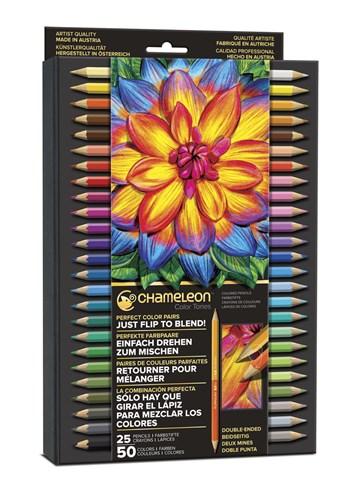 Chameleon, PE2501, umělecké pastelky, 25/50 kusů
