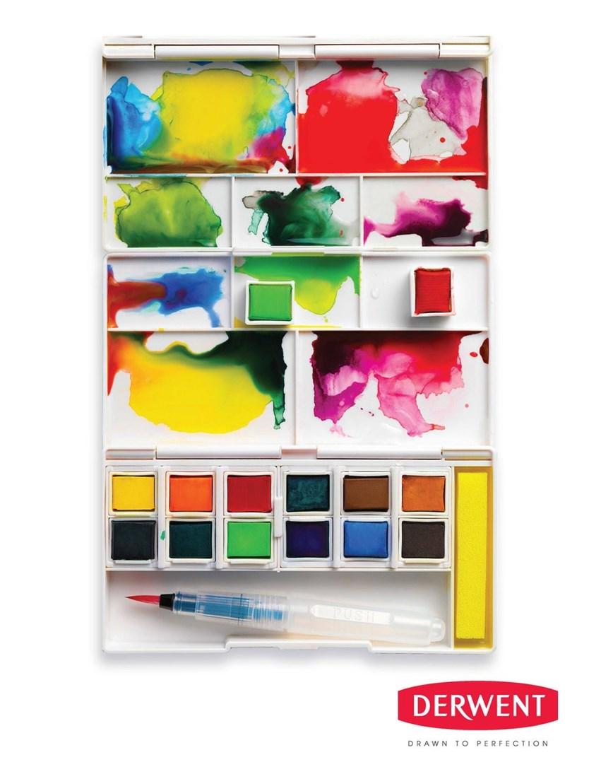 Derwent 2302636 Inktense Akvarelove Barvy V Panvickach Cestovni