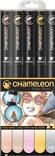 CHAMELEON, CT0501, Color Tones, 5 Pen set, stínovací popisovače, 5 ks, Pastel tones