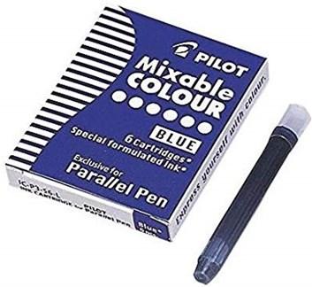 Pilot,  IC-P3-S6-L, náhradní náplně do pera (bombičky), modrá barva