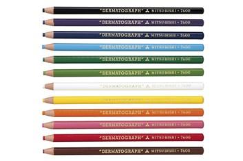 Mitsubishi, 7600, Dermatograph, kusové pastelky, 1 ks, bílá