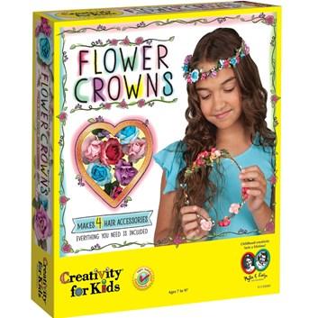Creativity for kids, 1-130-200, kreativní sada, květinové korunky
