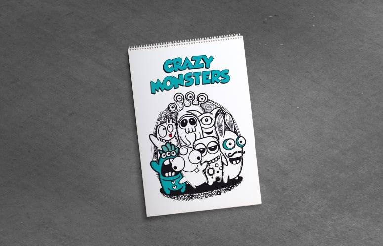 Omalovánka pro dospělé, Crazy Monsters