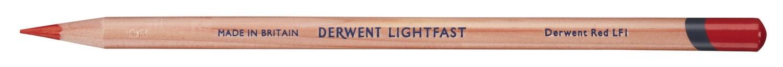 Derwent, 2305704, Lightfast, umělecké pastelky, kusové, 1 ks, Derwent Red