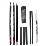 Derwent, 2300675, Charcoal set, sada uhlů, 10 ks