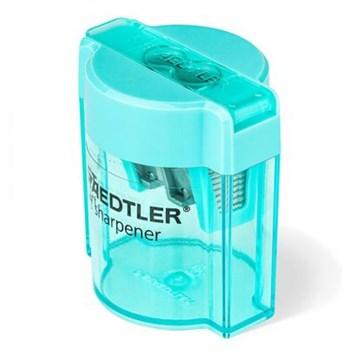 Staedtler, 513 001CBK, transparentní ořezávátko se dvěma otvory a zásobníkem, 1 ks