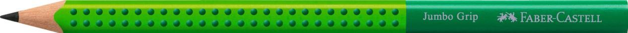 Fabec-Castell, 111990, Jumbo Grip, grafitová tužka B, zelená, 1 ks