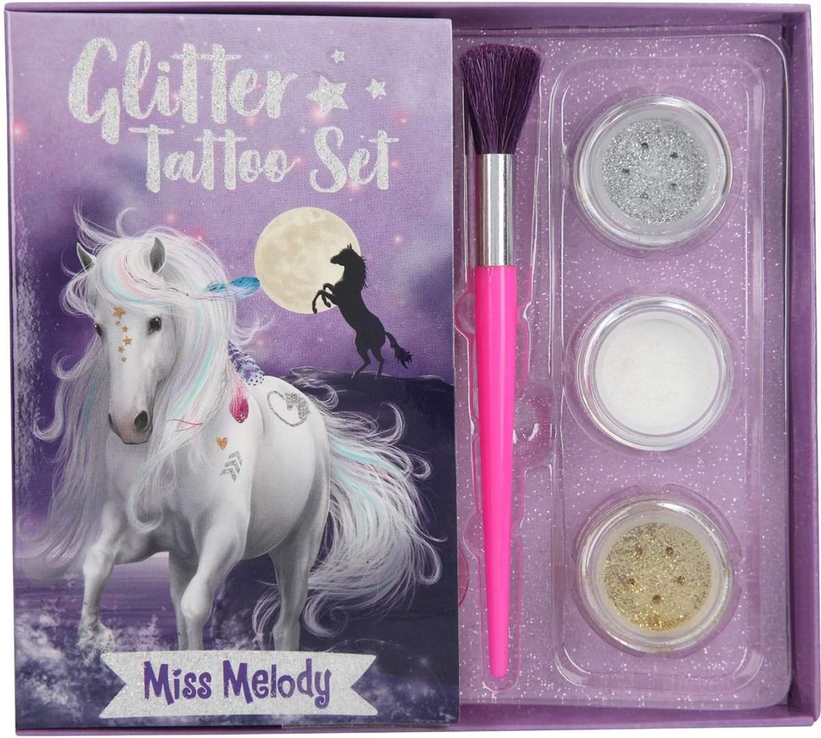 Miss Melody, 2883939, Glitter tattoo set, sada třpytivého tetování