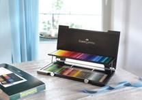 Faber Castell Polychromos 120 ks, dřevěná dárková kazeta. Luxusní dárek pro každého kreslíře.