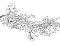 Omalovánka pro dospělé, Zaginiony ocean - Ztracený oceán
