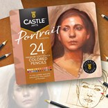 Castle art supplies, CAS-24CP-THEMED, sada uměleckých pastelek, Portrét, 24 ks