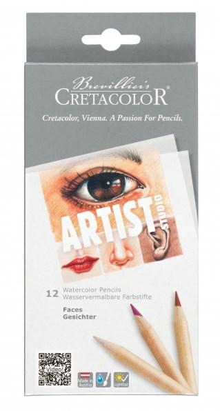 Cretacolor, 283 10, Artist studio, sada akvarelových pastelek, pleťové odstíny, 12 ks