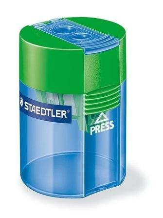 Staedtler, 512 006, ořezávátko na 2 tužky se zásobníkem, různé barvy