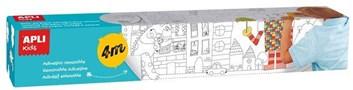 APLI, 2030023O, omalovánky v roli, samolepící, 4 m