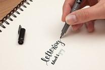 Tombow, WS-TBS, Fudenosuke, oboustranný Brush pen, štětečkový popisovač, černá/šedá, 1 ks