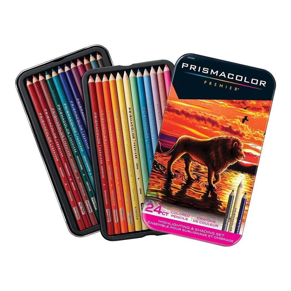Prismacolor, 2034399, Prismacolor Premier, sada uměleckých pastele Highlighting & Shading, 24 ks