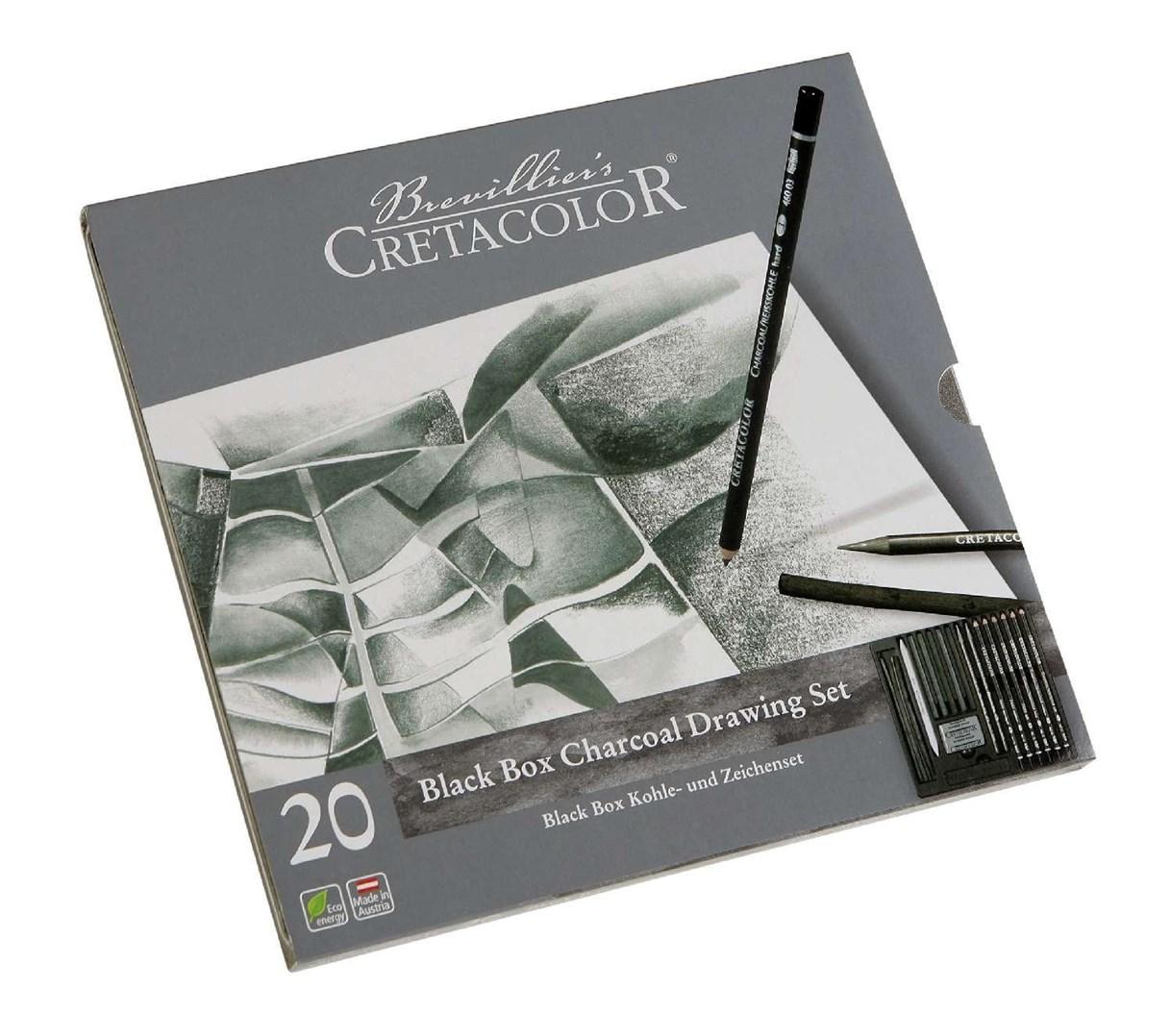 Cretacolor, 400 30, Black box set, sada uhlů pro kresbu, 20 ks