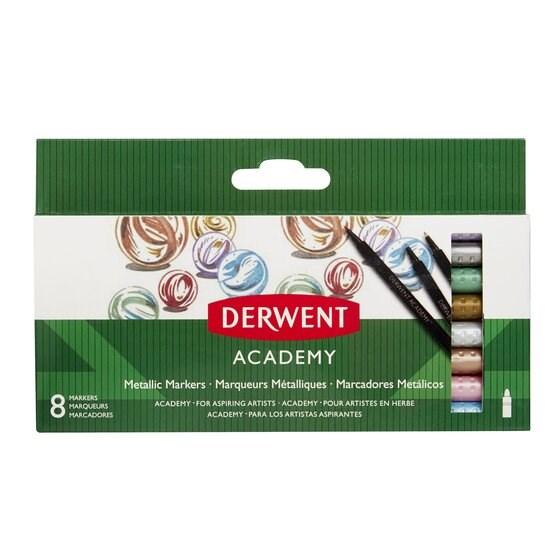 Derwent, 98212, Academy, metalické fixy, 8 ks