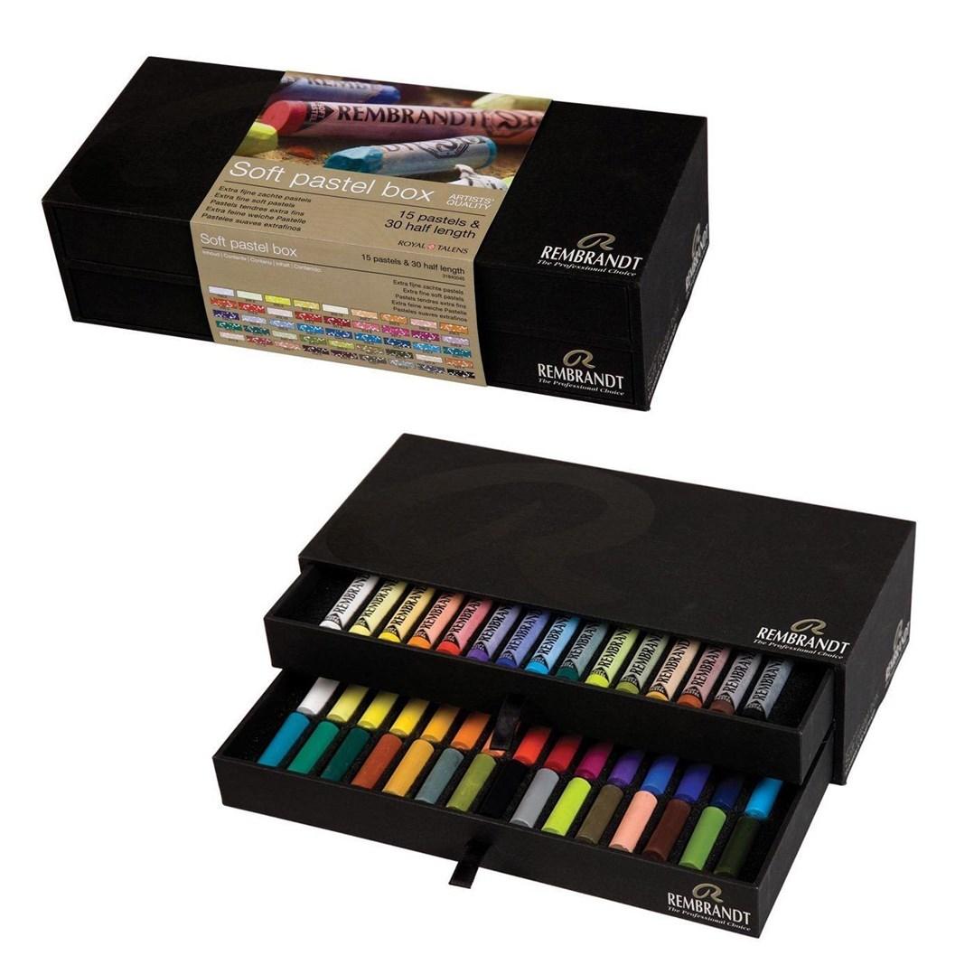 Royal Talens, 31840045, Rembrandt Pastel, dárková sada suchých pastelů, 45 ks
