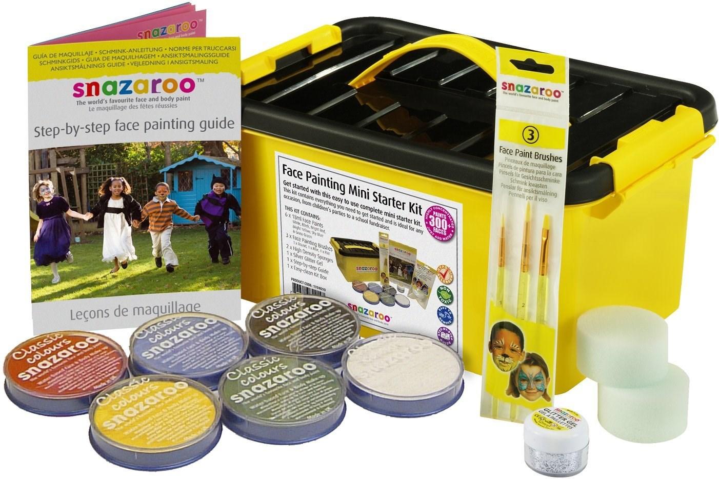 Snazaroo, 1194010, Mini Starter Kit, sada barev na obličej a tělo, 14 ks