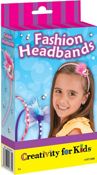 Creativity for kids, 1-973-200, kreativní sada, módní čelenky mini