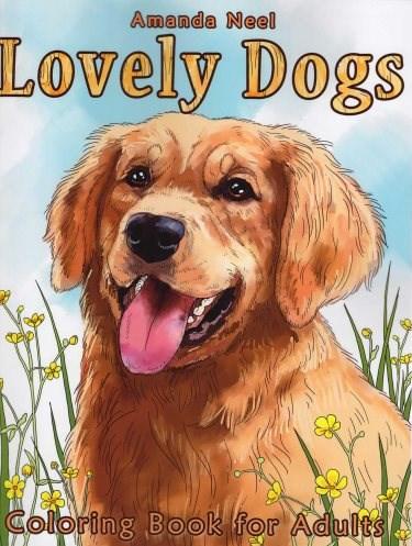 Omalovánka pro dospělé, Lovely Dogs
