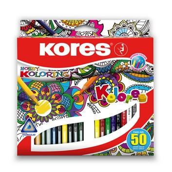 Kores, 93350, Kolores, sada trojhranných pastelek, 50 ks