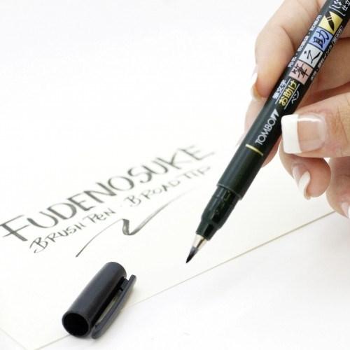 Tombow, WS-BS + BH, Fudenosuke, Brush pen, sada kaligrafických fixů, 2 ks