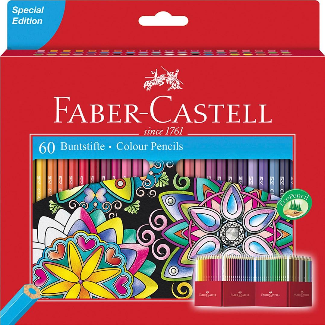 Pastelky Faber Castell, Castle 60, vyrobené přímo pro kreslení omalovánek, vyzkoušejte limitovanou edici i vy.