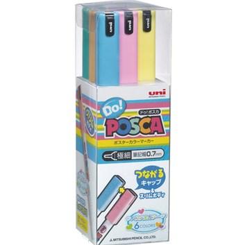 Uni ball, PC1MDP6C, akrylový popisovač, pastelové odstíny, 6 barev