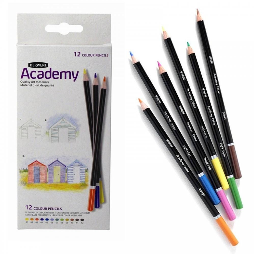 Derwent, 2300088, Academy, umělecké pastelky, papírový karton, 12 ks