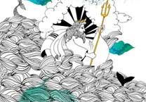Mon Petit Art, COMJOU1, Coloriage merveilleux 12 mythes, omalovánka 12 řeckých mýtů